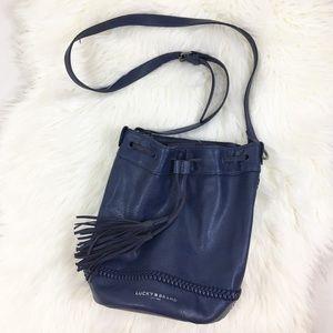 Lucky Brand Harper Cobalt Blue Bucket Bag